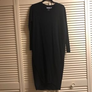 ASOS Black Long Sleeve Knitted Dress